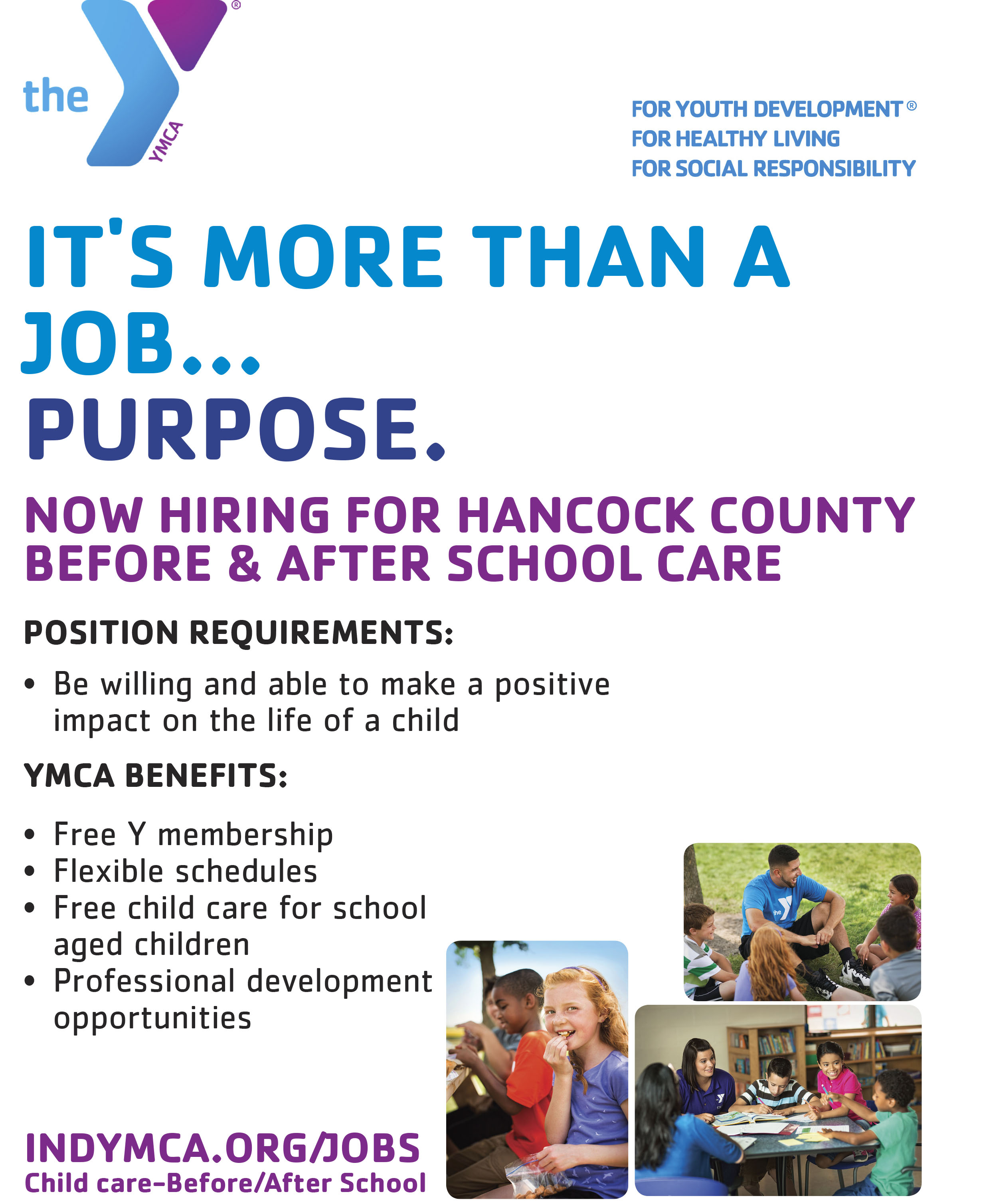 YMCA jobs flier